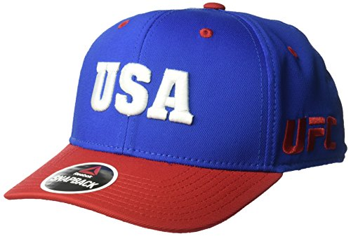 UFC Adult USA Structured Adjustable, One Size, Blue/Red