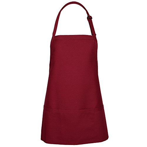 Red 3 Pocket Bib Apron - 9