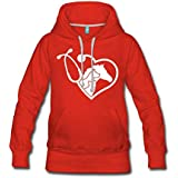 Vet Tech Love Women's Premium Hoodie Red