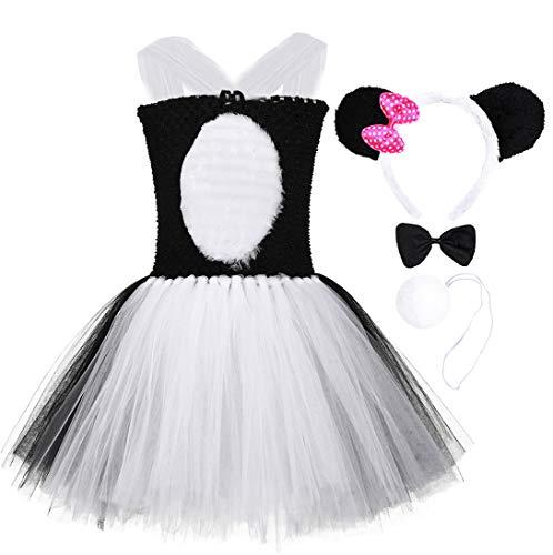 Tutu Dreams White Black Panda Bear Tutu Costumes for Girls Teens Halloween Holiday Pageant Dress Up (Panda, XXX-Large(11-12 ()