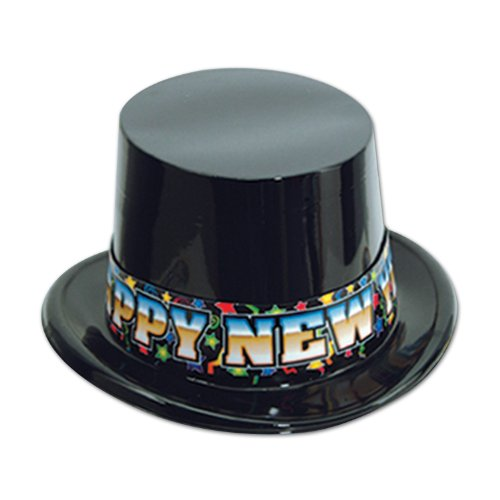 High Society Topper (black), 25 Hats Per (High Society Halloween Costume)