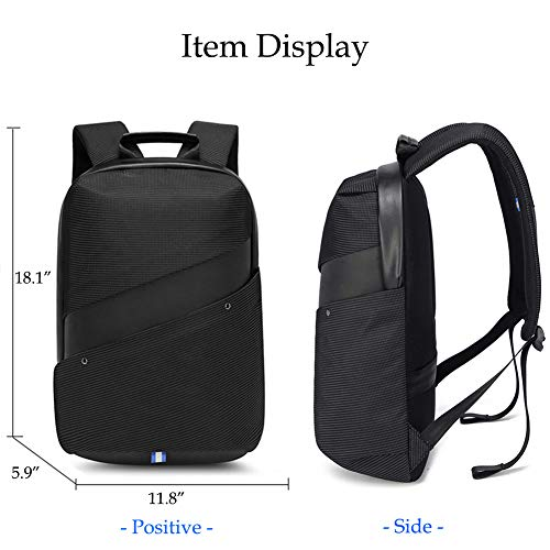 Heartbeat Anti Theft Backpack Water Resistant Travel Bag