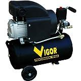 Vigor Vca-24L Compressori 220 V 1 Cilindro Trasmissione Diretta 2 CV 24 l