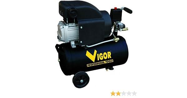 Vigor Vca-24L - Compresores, 220 V, 1 Cilindro, De Accionamiento Directo, 2 Hp, 24 L: Amazon.es: Bricolaje y herramientas