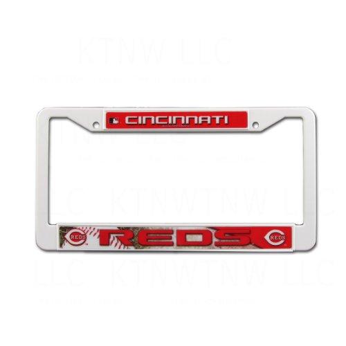 - MLB Reds Plastic Frame, 15 x 8, Logo Color