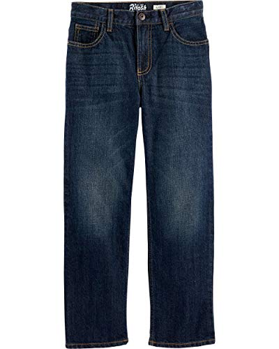 Osh Kosh Boys' Little Classic Jeans, Rail Tie True Blue Wash, 6R