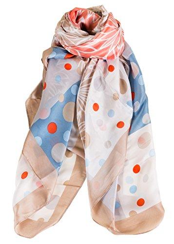 Fibra Impreso Sat Cuadrado elegante Ligero Cuadrado Aivtalk de bufanda seda Bufanda bufanda Mujer wOzq6AH