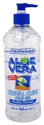 Fruit Of The Earth Aloe Vera Gel Crystal Clear 20oz No Alcoh