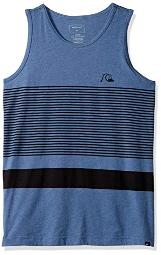 (Quiksilver Boys' Big Tank, Bijou Blue Heather, S/10)