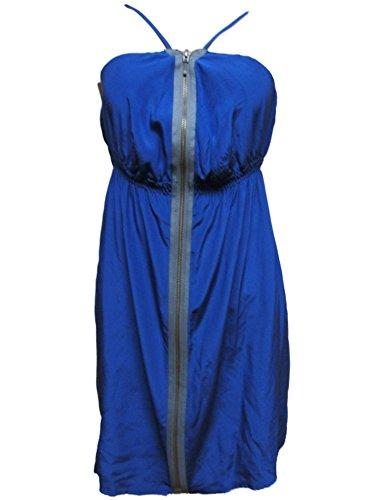 Marc By Marc Jacobs Women's Silk Zipper Dress XS/S Indigo Blue (Jacobs Dress Silk Marc)
