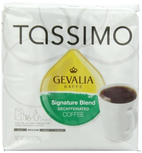 Gevalia Signature Blend Decaffeinated Coffee (Mild), 16-Count T-Discs for Tassimo Coffeemakers (Pack of 2) Home & Kitchen ()