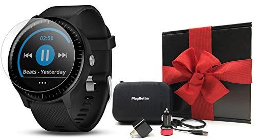 Garmin vivoactive 3 Music Gift Box Bundle | with HD Screen Protector (x2), PlayBetter USB Wall & Car Charging Adapters, Hard Case | Multi-Sport Fitness GPS Watch | Gift Box (Music – Black) Review