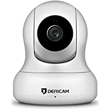 Dericam 1080P HD WiFi Pan/Tilt IP Camera (2.0 Megapixel) Indoor Wireless Security Camera (White), Plug & Play, 4x Digital Zoom, Two-Way Talk & Nightvision
