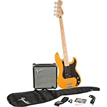 Squier by Fender P Bass Guitar Pack, Butterscotch Blonde