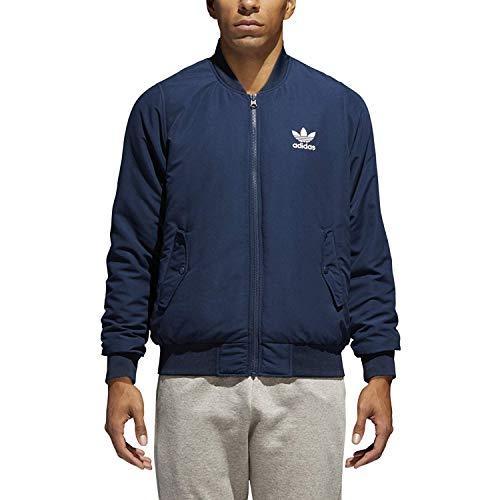 (adidas Men's Originals Reversible Bomber Jacket (S) Collegiate Navy)