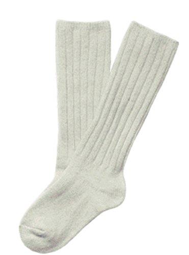 Lian LifeStyle Unisex Baby Children 1 Pair Knee High Wool Blend Socks 3 Sizes 12 Colors, White, 0-2Y (Toddler Boys White Knee Socks)