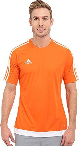 adidas Performance Men's Estro Jersey, Large, Orange/White