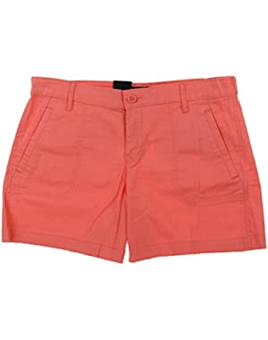 Jeans Women's Stretch Chino 4 Pocket Shorts (10, Chalky Coral)