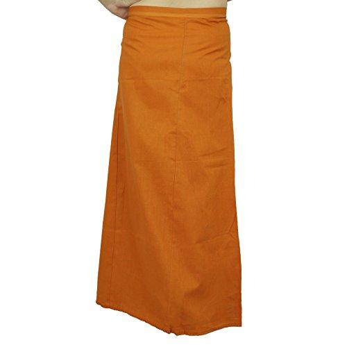 Bollywood Sólido Algodón enaguas de la guarnición de la India Para Sari ocre amarillo