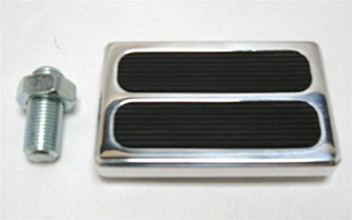 Billet Products Brake Pedal (Billet Padded Street Rod Hot Rod Brake Clutch Pedal Foot Pad Ford Chevy)