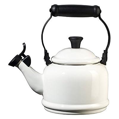 Le Creuset 1.25-Qt. Enamel on Steel Demi Teakettle, Color: White
