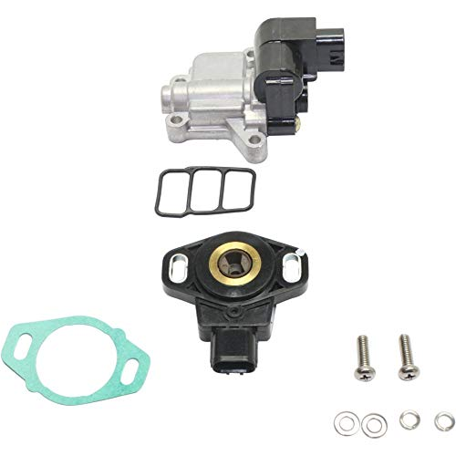 Throttle Position Sensor for Honda Accord 03-05 / Element 03-06 Set of 2 With Idle Control Valve ()
