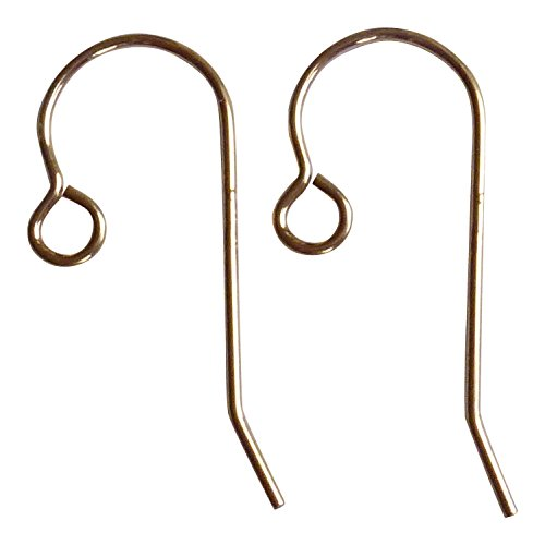 14/20 Gold Filled Ear Wires with Open Loop 5 Pairs 10x24mm, 21ga Wire