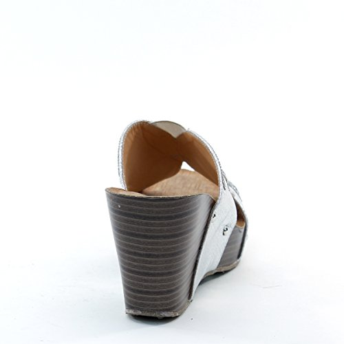 Platform Silver Wedge Brieten Brand Womens Rhinestone Sandals Butterfly Pattern New 6TqA7wY