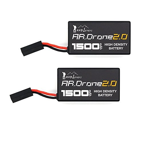 Upow 2 PCS Upgrade Lithium-Polymer Replacement Battery for Parrot AR.Drone 2.0 ()