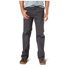 The defender-flex pants has been developed for 5.11 end users who are looking for low-vis tactical without sacrificing performance at the firing range or comfort for everyday wear, and is crafted with a cavalry twill cotton/polyester blend, w...