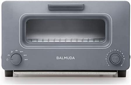 BALMUDA The Toaster | Steam Oven Toaster | 5 Cooking Modes - Sandwich Bread, Artisan Bread, Pizza, Pastry, Oven | Compact Design | Baking Pan | K01M-GW | Gray | US Version