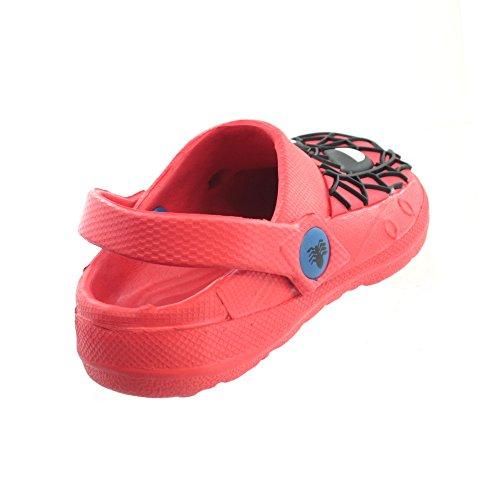Spiderman - Sandalias de vestir para niño Rojo rojo