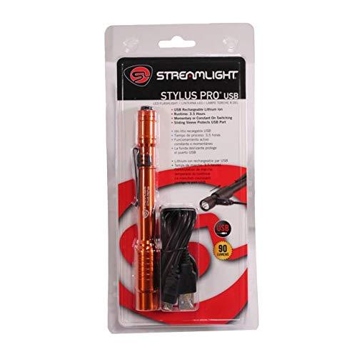 Streamlight 66147 Stylus Pro USB W/ 120V AC, Orange