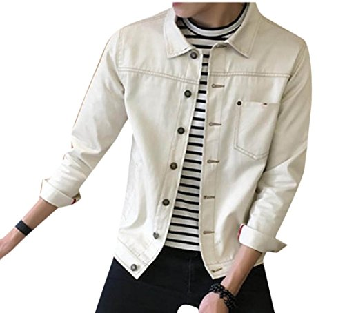 Doufine Men's Fit Coats Outdoor Leisure Bomber Jacket Solid Stylish Beige Flexible ROrAxR14