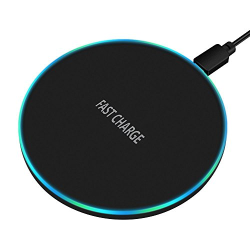 Wireless Charger, 7.5W Qi Fast Wireless Charger Compatibility iPhone X/8/8Plus,10W Fast Charge Compatibility Samsung Galaxy Note 8 S8 S8 Plus S7 Edge,5W Compatibility All Qi Enabled Phones by CovertSafe