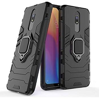 Pegoo Xiaomi Redmi 8A Case,Xiaomi Redmi 8 Case,Hybrid Heavy Armor Silicone Protective Cover Case for Xiaomi Redmi 8A//Redmi 8 Black