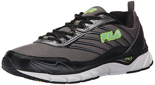 Fila de hombre adelante Running Shoe Dark Silver/Black/Andean Toucan