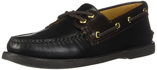 Sperry STS12955: Men's Gold A/O 2-Eye Leather Loafers (8 D(M) US Men, Black/Amaretto) by Sperry
