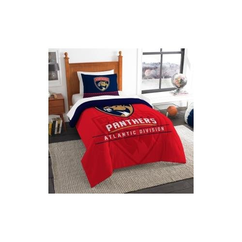 The Northwest Company Officially Licensed NHL Florida Panthers Draft Twin Comforter and Sham Set, ()