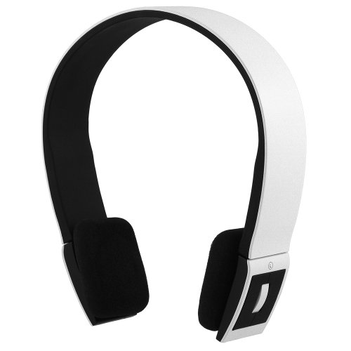 Chromo Inc® SMOOVE Series Stereo Bluetooth Wireless Headphones with Microphone (White), Best Gadgets