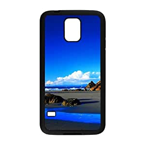 Personalized Creative Cell Phone Case For Samsung Galaxy S5,glam pure blue sky and sea beach
