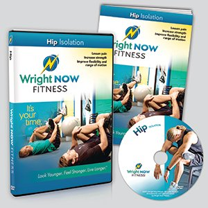 Hip Isolation Exercise and Stretch Workout DVD to Lessen Pain, Increase Strength, Improve Flexibility and Range of Motion with Aaron Wright (Exercises To Increase Range Of Motion In Shoulder)