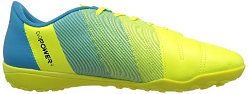 PumaEvopower 4 3 Tt - Zapatillas de Fútbol Hombre Amarillo - Gelb (safety yellow-black-atomic blue 01)