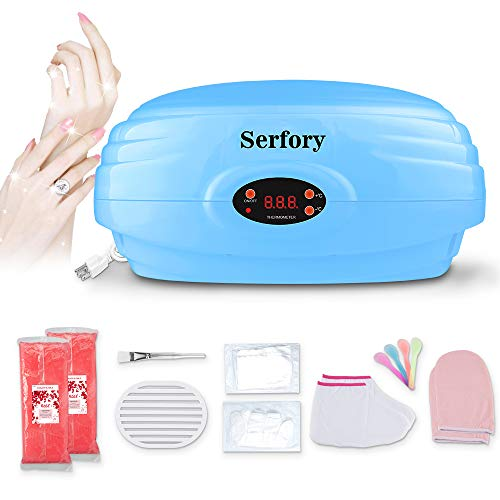 Paraffin Wax Machine Paraffin Wax Warmer Quick-Heating Paraffin Bath for Hand and Feet Soft Skin Joint with Refill Thermal Mitts Gloves Silicone Brush for Smooth Skin Serfory