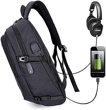 Cicilin Sac /à Dos Ordinateur Portable Imperm/éable avec USB Charging Port Sac /à Dos daffaires Sac /à Dos Fonctionnel Sac a Dos PC pour Loisirs//Affaire//Scolaire Bleu