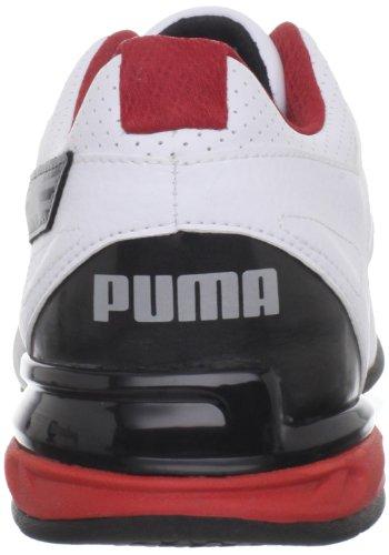 886375633292 - PUMA Men's Tazon 5 Cross-Training Shoe,White/Black/Ribbon Red,10 D US carousel main 1