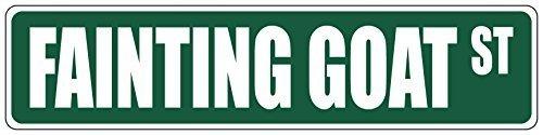 Fainting Goat Green 4 x 18 Aluminum METAL Novelty Street Sign