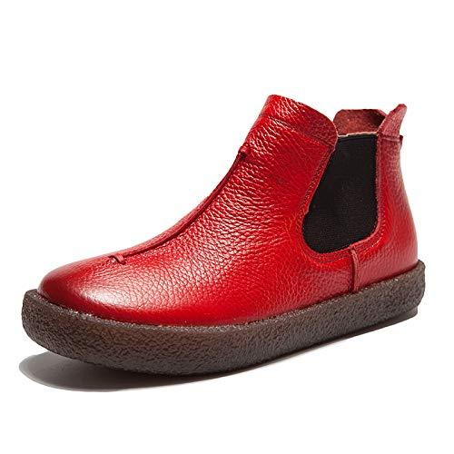 EU da Rosso ZHRUI 39 di Scarpe Dimensione comfort in caviglia Colore dimensioni Rosso donna grandi con pelle Oxford pZZSTqBw