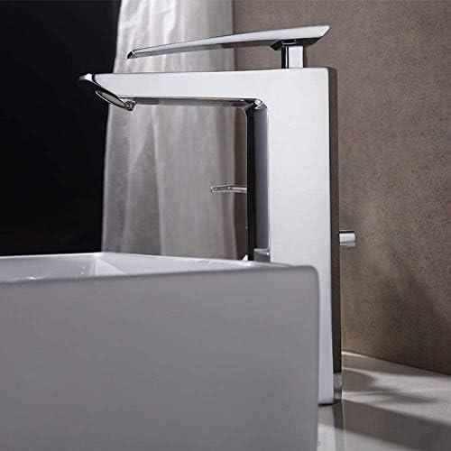 Gulakey バスルームのシンクは、スロット付き浴室の洗面台のシンクホットコールドタップミキサー流域の真鍮シンクミキサータップ非震とう浴室蛇口洗面台の蛇口をタップ