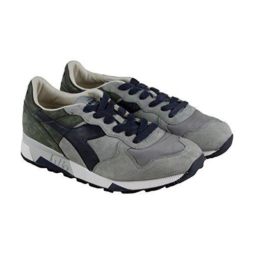 Diadora Mens Boots (Diadora Trident 90 S Mens Gray Mesh/Suede Athletic Lace Up Training Shoes 9)